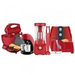Ficha técnica e caractérísticas do produto Kit Colors Vermelho Cozinha Completa Cadence