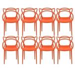 Ficha técnica e caractérísticas do produto Kit com 8 Cadeiras Allegra Laranja