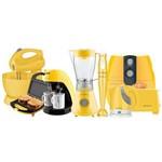 Ficha técnica e caractérísticas do produto Kit Cozinha Completa Colors Amarelo Cadence 127v