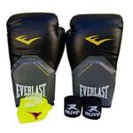 Ficha técnica e caractérísticas do produto Kit de Boxe / Muay Thai 08oz - Preto - Pro Style - Everlast