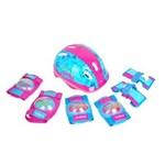 Ficha técnica e caractérísticas do produto Kit de Proteção com Capacete, Cotoveleira e Joelheira Infantil Feminino - Es105 - Atrio