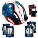 Kit de Proteção Infantil Bicicleta Skate Patins Patinete Azu