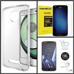 Kit 2 em 1 Película de Vidro e Capa Anti Impacto para Motorola Moto Z Play Transparente