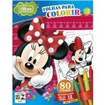 Kit Giz + Mini Folhas para Colorir Minnie Tilibra