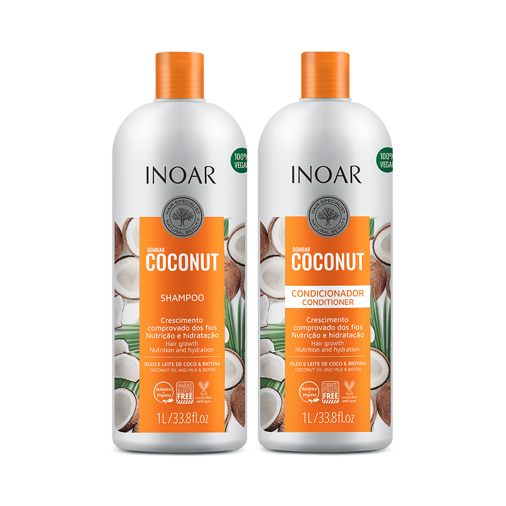 Ficha técnica e caractérísticas do produto Kit Inoar Bombar CocoNut Shampoo + Condicionador 1000ml