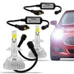 Ficha técnica e caractérísticas do produto Kit Lâmpada Super LED Headlight H7 6000K 3200LM Efeito Xênon