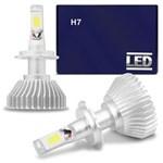 Ficha técnica e caractérísticas do produto Kit Lâmpada Super LED Headlight H7 6000K 12V 24V 35W 6400LM Efeito Xênon Carro Moto Caminhão