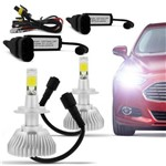 Ficha técnica e caractérísticas do produto Kit Lâmpada Super Led Headlight H7 6000k 12v e 24v 32w Efeito Xenon