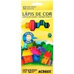 Kit - Livro Fantasia Celta: Livro de Colorir Antiestresse + Lápis de Cor Acrilex Hexagonal 12 Cores