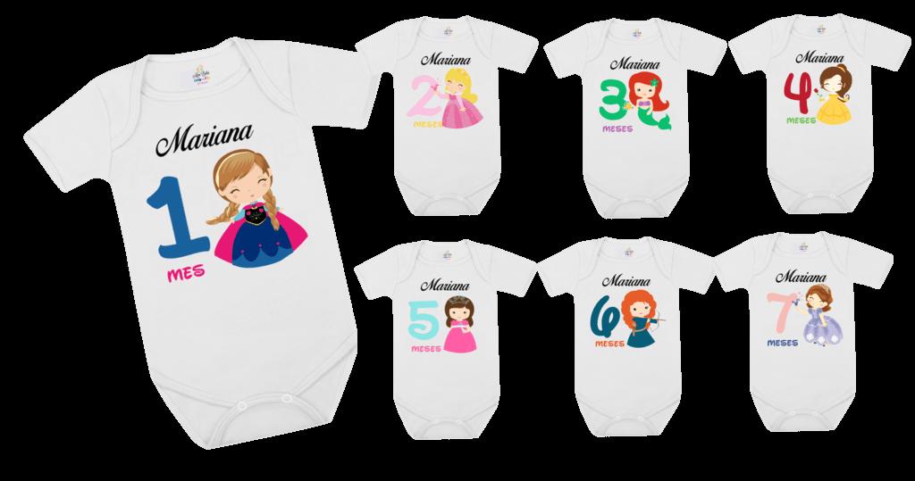 Ficha técnica e caractérísticas do produto Kit Mesversário Princesas C/ 03 Peças (Branco)
