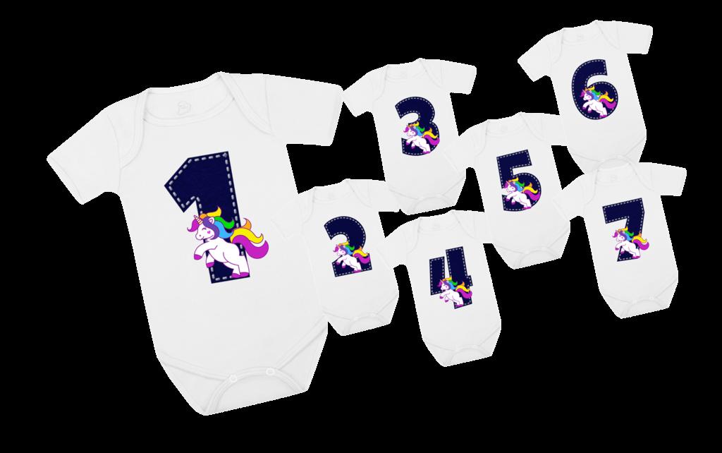 Ficha técnica e caractérísticas do produto Kit Mesversário Unicórnio C/ 03 Peças (Branco)