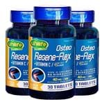 Kit 3 Osteo Regene-Flex Colágeno Tipo II Unilife 30 Cápsulas