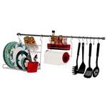 Ficha técnica e caractérísticas do produto Kit para Cozinha Metaltru - 11 Peças - Cromo/Vermelho