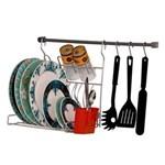 Ficha técnica e caractérísticas do produto Kit para Cozinha Metaltru - 5 Peças - Cromo/Vermelho
