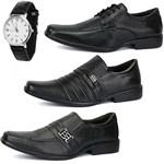 Kit 3 Pares de Sapatos Sociais em Couro SapatoFran