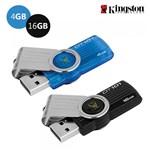 Kit 2 Pen Drive Kingston 4GB e 16GB USB 2.0 - DataTraveler 101 G2