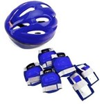 Kit Proteção Pro Capacete 7 Peças Azul Tam. G Bel Fix 6113