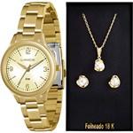 Kit Relógio Feminino Lince Analógico Fashion LRG4289L K115C2KX