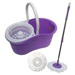 Ficha técnica e caractérísticas do produto Kit Spin Mop de Limpeza com Esfregao Balde Centrifugador Mop com Rotação 360 + Refil Tssaper