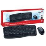 Ficha técnica e caractérísticas do produto Kit Teclado e Mouse Wireless Genius Kb-8000X Usb 2.4 Ghz Preto 1200Dpi - 31340005113