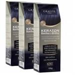 Ficha técnica e caractérísticas do produto Kit 3 Tonalizantes Keraton Sem Amônia Banho de Brilho Grafite 3x100g - Kert