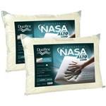 Kit 2 Travesseiros Nasa Alto Luxo 50x70cm - Duoflex