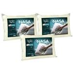 Kit 3 Travesseiros Nasa Alto Luxo 50x70cm - Duoflex