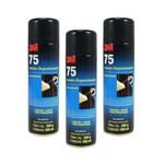 Ficha técnica e caractérísticas do produto Kit 3 Tubos Spray Adesivo Cola 75 500ml 3M