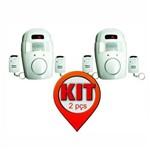 Kit 2 Unidades - Alarme com Sensor de Presença Sem Fio - Acompanha 2 Controles - Dni 6060