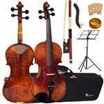 Kit Violino Profissional Envelhecido 4/4 Vk644 Eagle Completo
