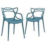 Ficha técnica e caractérísticas do produto KIT - 2 X Cadeiras Allegra - Turquesa - Mobili