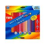 Lápis 60 Cores Tris Mega Soft +Apontador