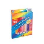 Lapis Cor Tris Mega Soft Color 48 Cores 1 Apontador - Conjunto