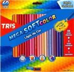 Ficha técnica e caractérísticas do produto Lapis Cor Tris Mega Soft Color 60 Cores + Apontador
