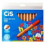 Lápis de Cera 12 Cores Jumbo Cis
