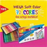 Ficha técnica e caractérísticas do produto Lápis de Cor Tris Mega Soft Color 72 Cores Estojo Metálico