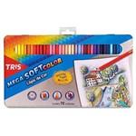 Ficha técnica e caractérísticas do produto Lápis de Cor 72 Cores Tris Mega Soft Color Estojo Metálico