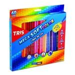 Ficha técnica e caractérísticas do produto Lápis de Cor Escolar 60 Cores + Apontador