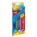Ficha técnica e caractérísticas do produto Lapis de Cor Mega Soft Color 12 Cores Tris