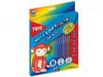 Ficha técnica e caractérísticas do produto Lápis de Cor Mega Soft Color - 24 Cores - Tris