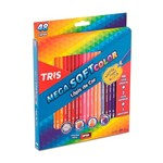Ficha técnica e caractérísticas do produto Lápis de Cor Mega Soft Color 48 Cores 684055 - Tris