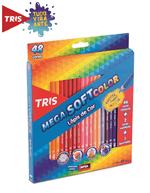 Ficha técnica e caractérísticas do produto Lápis de Cor Mega Soft Color 48 Cores + Apontador Tris