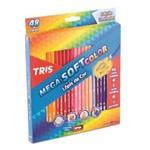 Ficha técnica e caractérísticas do produto Lapis de Cor Mega Soft Color 48 Cores com Apontador Tris