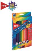 Ficha técnica e caractérísticas do produto Lápis de Cor Mega Soft Color 36 Cores + Apontador Tris
