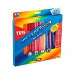 Ficha técnica e caractérísticas do produto Lápis de Cor Mega Soft Color 60 Cores 684062 - Tris