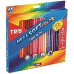 Ficha técnica e caractérísticas do produto Lápis de Cor Mega Soft Color 60 Cores + Apontador Tris