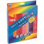 Ficha técnica e caractérísticas do produto Lápis de Cor Mega Soft Color com 48 Cores + Apontador Tris
