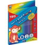 Ficha técnica e caractérísticas do produto Lápis de Cor Triangular 24 Cores 1 Apontador Mega Soft Color Tris