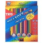 Ficha técnica e caractérísticas do produto Lápis de Cor Triangular 24 Cores Mega Soft Tris + 1 Apontador Simples