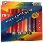 Ficha técnica e caractérísticas do produto Lápis de Cor Triangular 60 Cores 1 Apontador Mega Soft